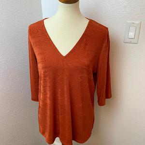 NWT Michael Kors Copper  Knit Top. L